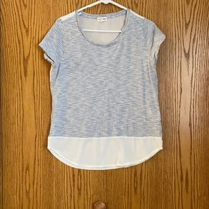 Stripe and Solid Back T Shirt